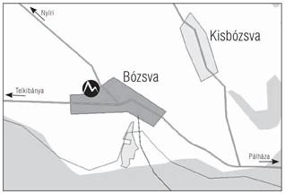Bózsva minitérkép